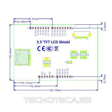 "SHIELD ARDUINO LCD 3.5"""