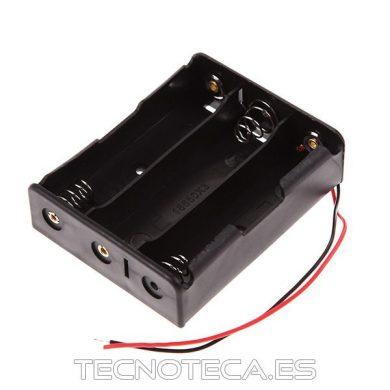 Portapilas para 3 baterias de litio 18650