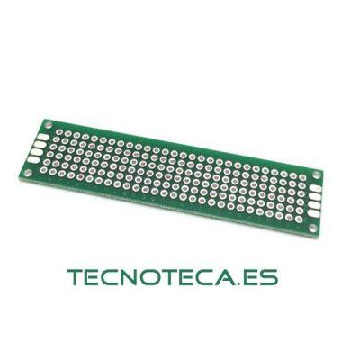 Circuito impreso PCB perforado doble cara 2X8cm