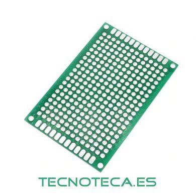 Circuito impreso PCB perforado doble cara 4X6cm