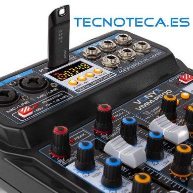 MEZCLADOR DIRECTO 4CANALES CON DSP, USB Y REPRODUCTOR MP3/BT