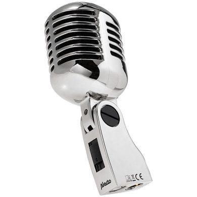 Micrófono retro de aspecto clásico años 50, 60