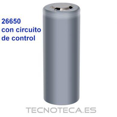 BATERIA 26650 CON CIRCUITO DE CONTROL