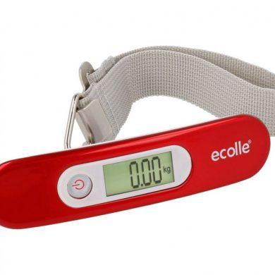 Báscula digital de mano para equipajes en Rojo