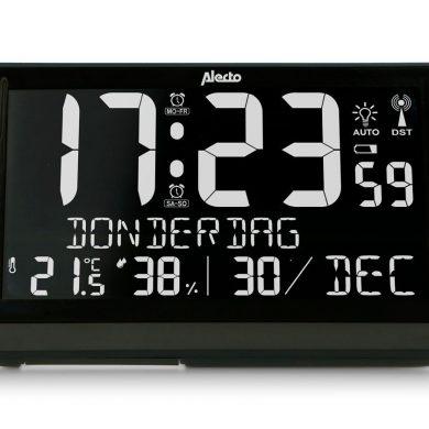 Reloj despertador con Higrómetro, Termómetro y fecha DST